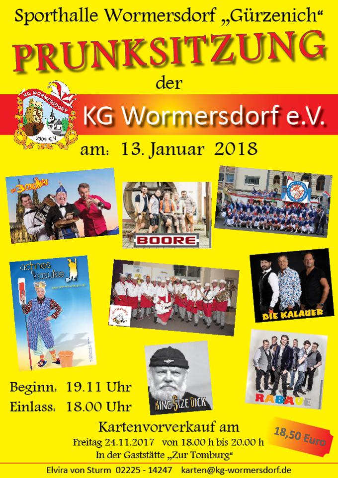 Plakat zur Prunksitzung 2018