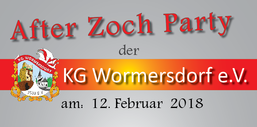 Plakat After Zoch Party