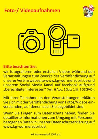 Informationen zu Foto- und Videoaufnahmen