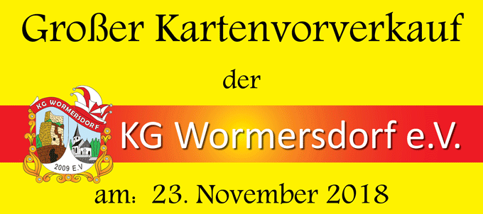 Plakat Vorverkauf Prunksitzung 2019 Kopfteil